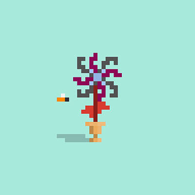 Moody Trees - #62 Lyemor - Pixel.Flowers by Roscoe Hart and Adam Oriti