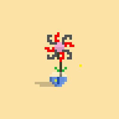 Animal Portraits - #628 Juanita - Pixel.Flowers by Roscoe Hart and Adam Oriti