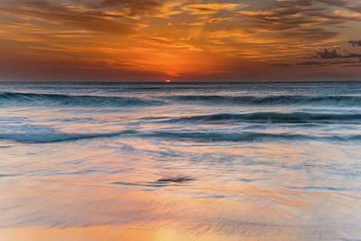 Photograph - Sunrise Seascape by Merrillie Redden