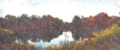 Impressionist Landscapes - Landscape by GiannisXenos Watercolor ArtWork