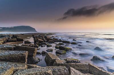 Photograph - Rocky Sunrise Seascape by Merrillie Redden