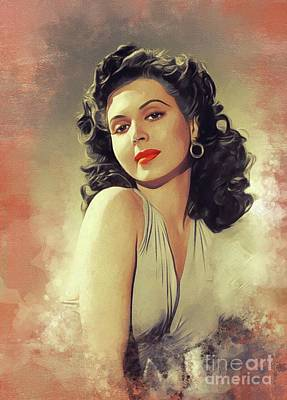 Sean Rights Managed Images - Ann Miller, Vintage Movie Star Royalty-Free Image by Esoterica Art Agency