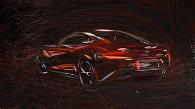 Comedian Drawings - Aston Martin AM 310 Vanquish Draw by CarsToon Concept