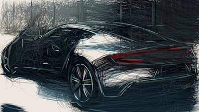 Thomas Kinkade Rights Managed Images - Aston Martin One 77 Draw Royalty-Free Image by CarsToon Concept