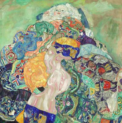Painting - Baby  Cradle by Gustav Klimt