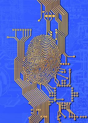 Biometric Security, Artwork Art Print by Victor Habbick Visions
