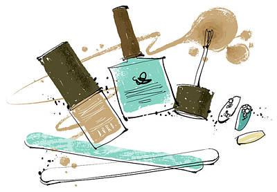 Cosmetics Art Print by Eastnine Inc.