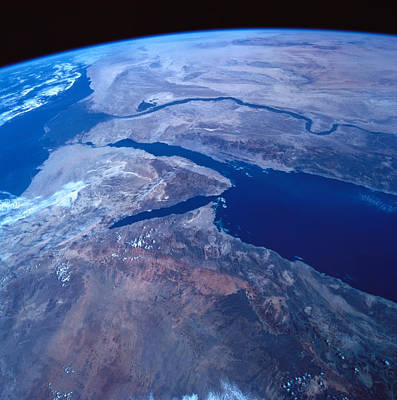 Fragility Photograph - Earth Viewed From A Satellite by Stockbyte