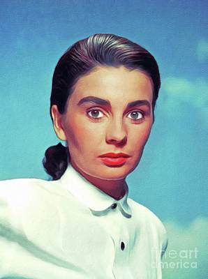 Royalty-Free and Rights-Managed Images - Jean Simmons, Vintage Movie Star by Esoterica Art Agency