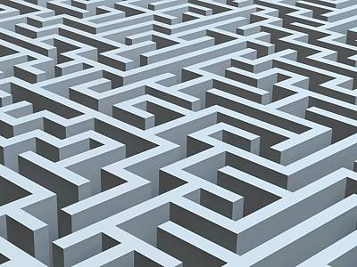 Maze, Artwork Art Print by Pasieka