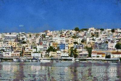 Painting - Mikrolimano Port by George Atsametakis