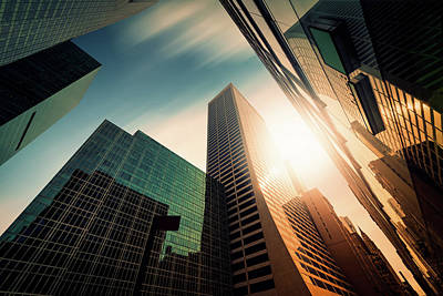 Modern Photograph - Office Skysraper In The Sun by Ppampicture