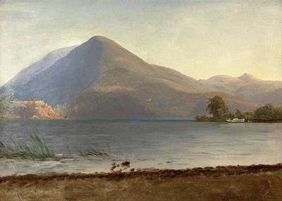 Painting - On The Hudson by Albert Bierstadt