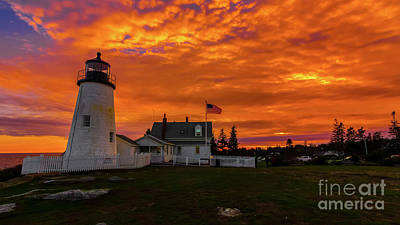 Photograph - Pemaquid Point Light by New England Photography
