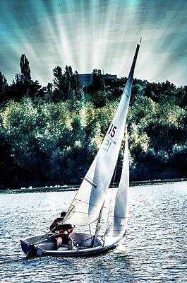 Photograph - Sailing by Pete Hunt