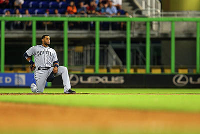 Photograph - Seattle Mariners V Miami Marlins by Mike Ehrmann