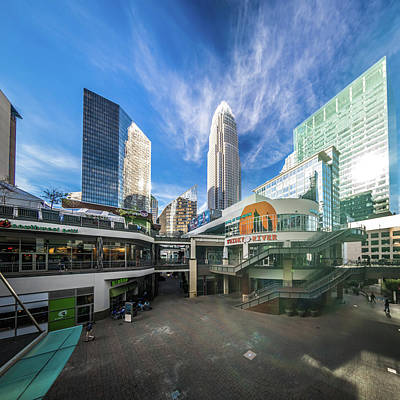 Photograph - Skyline Of Charlotte North Carolina With Blue Sky by Alex Grichenko