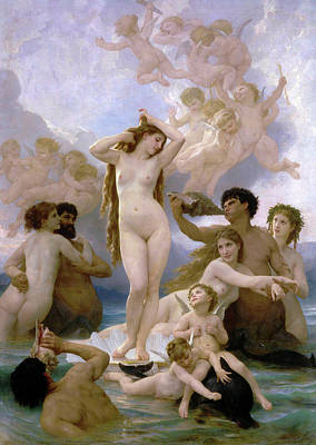 Venus Williams Wall Art - Painting - The Birth Of Venus by William-Adolphe Bouguereau
