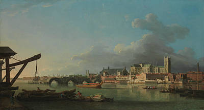 Painting - The Building Of Westminster Bridge by Samuel Scott