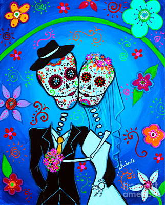 Painting - Wedding Dia De Los Muertos by Pristine Cartera Turkus