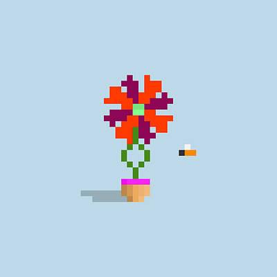 Design Turnpike Books - #725 Leanna - Pixel.Flowers by Roscoe Hart and Adam Oriti