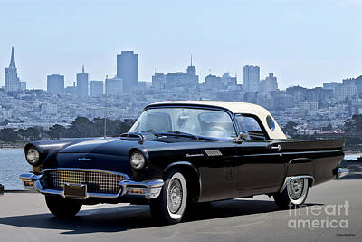 Animals Royalty-Free and Rights-Managed Images - 1957 Ford Thunderbird by Dave Koontz
