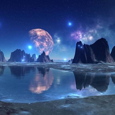 Digital Art - Alien Planet, Artwork by Mehau Kulyk