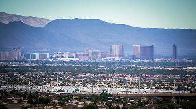 Photograph - Las Vegas City Surrounded By Red Rock Mountains And Valley Of Fi by Alex Grichenko