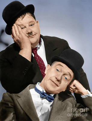 Photograph - Laurel And Hardy by Granger