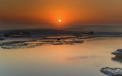 Photograph - Orange Glow Sunrise Seascape by Merrillie Redden