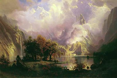 Painting - Rocky Mountain Landscape by Albert Bierstadt