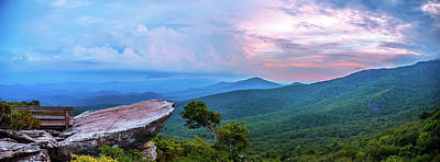 Photograph - Rough Ridge Overlook Viewing Area Off Blue Ridge Parkway Scenery by Alex Grichenko