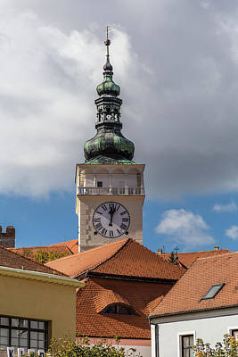 Science Tees Rights Managed Images - South Moravian small town of Mikulov Royalty-Free Image by Pavel Rezac