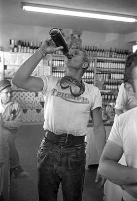 Drinking Photograph - Steve Mcqueen by John Dominis