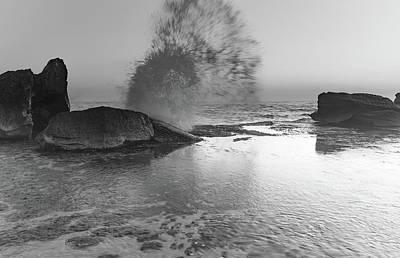 Photograph - Sunrise Seascape And Rock Ledge by Merrillie Redden