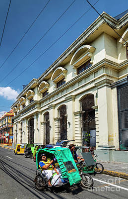 Studio Grafika Vintage Posters - Tricycle Pedicabs In Downtown Intramuros Street Of Manila City P by JM Travel Photography