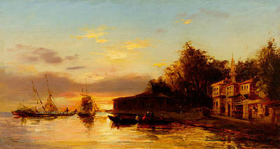 Painting - View Of Istanbul by Felix Ziem