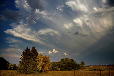 Catch Of The Day - Prairie Storm Clouds by Mark Duffy