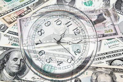 Photograph - Time Is Money  by Les Cunliffe