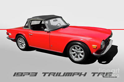 Aloha For Days - 1973 Triumph TR6 Roadster by Dave Koontz