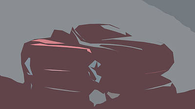 Pittsburgh According To Ron Magnes - Alfa Romeo Spider Abstract Design by CarsToon Concept