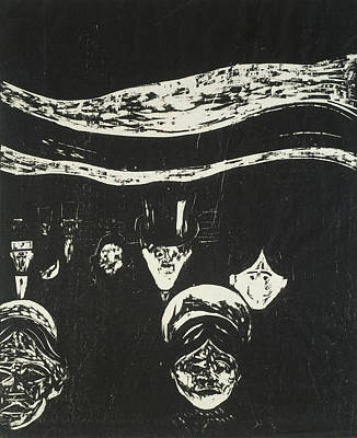 Relief - Anxiety by Edvard Munch