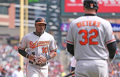Photograph - Baltimore Orioles V Detroit Tigers by Leon Halip