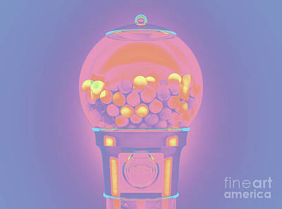 Royalty-Free and Rights-Managed Images - Gumball Dispensing Machine by Allan Swart