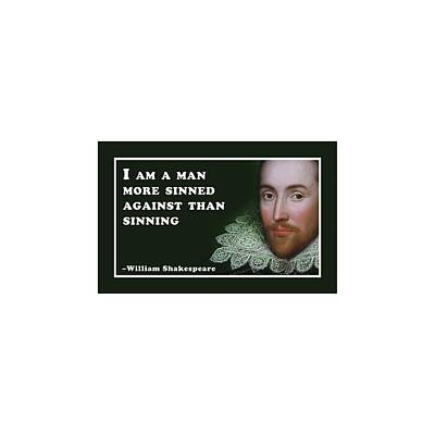 Popstar And Musician Paintings - I am a man #shakespeare #shakespearequote by TintoDesigns