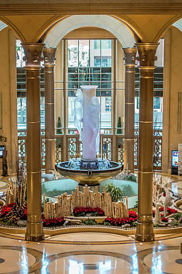 Photograph - Interior Halls And Decorations Around Las Vegas Nevada Hotels  by Alex Grichenko