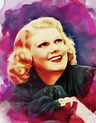 Royalty-Free and Rights-Managed Images - Jean Harlow, Vintage Movie Star by Esoterica Art Agency