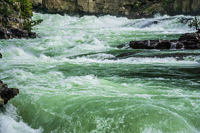 Typography Tees - Kootenai River North West Montana by Alex Grichenko