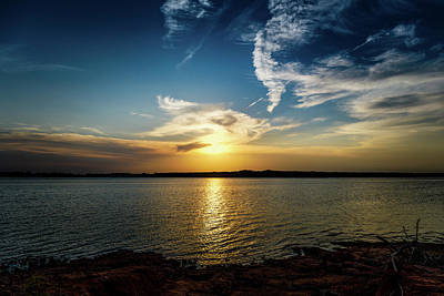 Marvelous Marble Rights Managed Images - Lake Sunset Royalty-Free Image by Doug Long
