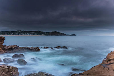 Photograph - Moody Sunrise Seascape by Merrillie Redden